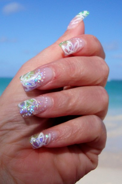 Full Sets Glitter Toes Magic Manicure With Glitter Party